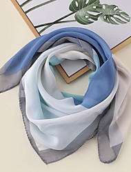 cheap -Women's Square Scarf Daily Wear Two-Tone Scarf Color Block / Polyester