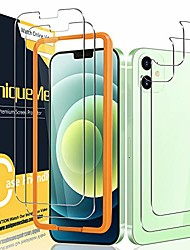 cheap -[2+2 pack] uniqueme compatible with iphone 12 mini 5.4 inch front and back screen protector tempered glass (not for iphone 12) [u-shaped cutout][easy installation frame]