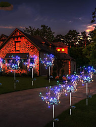 cheap -Solar Lights Outdoor 2pcs 1pc 3 W Lawn Lights LED Solar Lights LED Street Light Waterproof Solar Powered Decorative Warm White Multi Color 2 V Outdoor Lighting Swimming Pool Courtyard 90-120 LED Beads Christmas New Year's