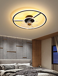cheap -LED Ceiling Fan Light 45cm 55cm Circle Round Design White+Black Black+Gold Dimmable Aluminum Vintage Style Modern Style Classic Painted Finishes LED Nordic Style 220-240V 110-120V