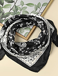 cheap -Women's Square Scarf Party Beige Scarf Floral