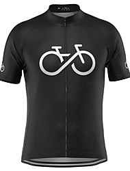 cheap -21Grams Men's Short Sleeve Cycling Jersey Summer Polyester Light Yellow White Red Bike Jersey Top Mountain Bike MTB Road Bike Cycling Quick Dry Moisture Wicking Breathable Sports Clothing Apparel