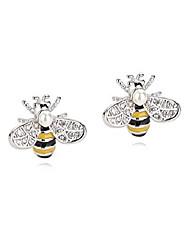 cheap -reffeer 925 sterling silver cute bee earrings stud small freshwater pearl bee earrings for women teen