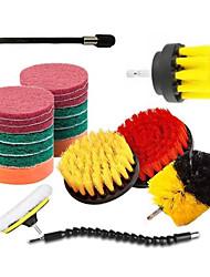 cheap -13pcs Electric Scourer Brush Plastic Round Cleaning Brush Kit For Glass Carpets Car Tires Nylon Brushes