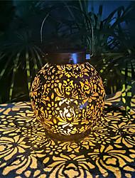 cheap -Solar Lights Outdoor Night Light Waterproof Garden Lamp Hanging Solar Lanterns Retro Hollow Solar Projector Lights with Handle For Yard Tree Fence Patio Landscape Lighting