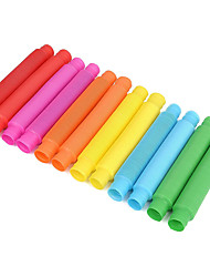 cheap -30-Pack Fun Pull and Pop Tubes for Kids Stretch, Bend, Build, and Connect Toy, Provide Tactile and Auditory Sensory Play, Colorful, Heavy-Duty Plastic