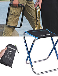 cheap -Camping Stool Portable Ultra Light (UL) Multifunctional Foldable Aluminum Alloy Oxford for 1 person Fishing Beach Camping Traveling Autumn / Fall Winter Camouflage Blue Gold / Breathable