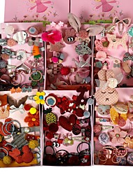 cheap -24 Pieces Of Girl's Headdress Gift Box Set Clip Baby Hairpin kids' Hair Accessories Girl Hairpin Head Rope Rubber Band