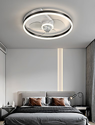 cheap -LED Ceiling Fan Light 50 cm Circle Design Black Gold Ceiling Fan Aluminum Artistic Style Vintage Style Modern Style Brushed Electroplated Modern Nordic Style 220-240V 110-120V