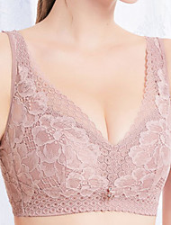 cheap -Women's Bras & Bralettes Push-up Full Coverage Lace Solid Color Purple