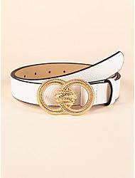 cheap -Women's Waist Belt Party Street Dailywear Holiday White Belt Pure Color Basic Fall Winter Spring Summer