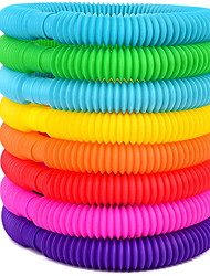cheap -16-Pack Fun Pull Pop and Fun Tubes for Kids Stretch, Bend, Build, and Connect Toy, Provide Tactile and Auditory Sensory Play, Colorful, Heavy-Duty Plastic