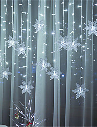 cheap -LED String Light 3.5m 24 Droop 96 LEDs String Lights Window lights Stars and Snowflakes Fairy Lights  Halloween Christmas Creative Party Decorative 220-240 V 110-120 V 1 set