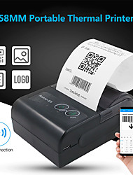 cheap -58mm Mini Portable Thermal Printer Wireless Lable Receipt Printer USB BT Connection Support ESC/POS for Supermarket Store