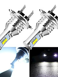 cheap -2pcs Car Headlight Mini Size H4 H7 LED H1 H11 H3 H8 H9 HB4 9005 9006 LED Bulbs Car Fog Light Lamp 12V
