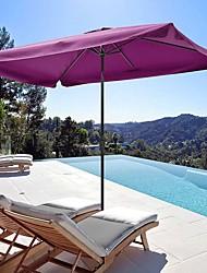 cheap -2Mx3M Aluminum Patio Outdoor Umbrella Fuchsia 6kg Furniture