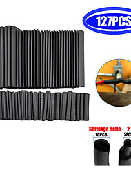 cheap -127 pcs of heat shrinkable tubing for electrical connection cable winding tube set waterproof  heat shrinkable tubing black