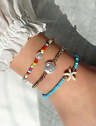 cheap -3pcs Women's Bracelet Geometrical Heart Stylish Simple Boho Plastics Bracelet Jewelry Rainbow For Daily Promise