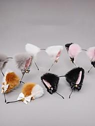 cheap -Cute Plush Bell Bow Tie Lolita Headdress Fox Ear Accessories Cat Ears Headband