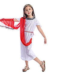 cheap -Cosplay Dress Kid's Girls' Halloween Halloween Halloween Carnival Children's Day Festival / Holiday Terylene White Easy Carnival Costumes Solid Color / Waist Accessory / Headwear