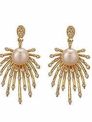 cheap -seanlov sterling silver post drop earrings cz pearl dangle earring for women girls birthday party christmas friendship gifts (fireworks)