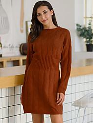cheap -2020 autumn and winter new products aliexpress autumn and winter sweater mid-length bag hip waist waist twist sweater dress