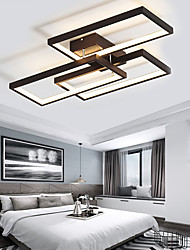 cheap -LED Ceiling Light 60cm 3-Light Linear Flush Mount Ambient Light 42W Painted Finishes Aluminum Geometric Pattern Dimmable With Remote Control Warm White Cold White