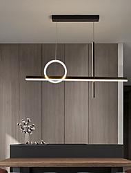 cheap -LED Pendant Light Kitchen Island Light Modern Black Gold 90cm Single Design Chandelier Aluminum Artistic Style Modern Style Stylish Painted Finishes 220-240V 110-120V