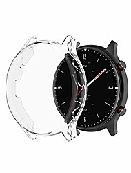cheap -g-rf watch protection case with touch screen for huami amazfit gtr 2 / gtr 2e all-inclusive tpu electroplated cover (clear)