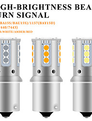 cheap -2pcs 12V BA15S led BAY15D P21/5W 1157 1156 3030 led 21SMD  turn signal light Car Reserve Lamps Brake Light