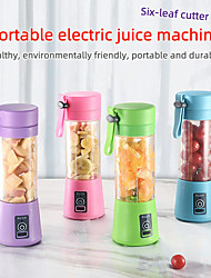cheap -4 blades 380ml Portable Juicer Electric USB Rechargeable Smoothie Blender Machine Mixer Mini Juice Cup Maker fast Blenders food processor