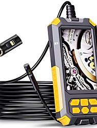 cheap -P50 Dual Lens Endoscoop Camera 1080P Hd 4.5 Ips Scherm 9 Led Verlichting IP68 Waterdichte Snake Camera riool Sanitair Gereedschap Hard 2M
