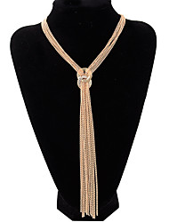 cheap -boutique tassel necklace fashion metal shining concise circle tassel long necklace/ladies sweater chain