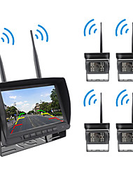 cheap -PZ607-W-4D LCD Digital Screen Wireless Car Reversing Monitor / Reversing Radar Kit Waterproof / 360° monitoring for Car