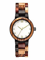 cheap -wooden wrist watch for women, light weight vintage and mother of pearl dial watch