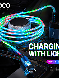cheap -HOCO Micro USB USB C Cable Normal Magnetic 2 A 1.0m(3Ft) PVC(PolyVinyl Chloride) Luminescent For Xiaomi Huawei Phone Accessory