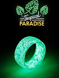 cheap -Ring Modern Style Light Blue Yellow Green Plastics Resin Fashion Luminous Patterned New 1pc / Anniversary