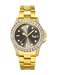 cheap -Missfox swiss watch fashion high-end diamond-studded stainless steel luminous men's watch