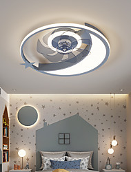 cheap -LED Ceiling Fan Light Modern Gray Gold Pink 50cm Dimmable Aluminum Vintage Style Modern Style Fairytale Theme Painted Finishes LED Modern 220-240V 110-120V