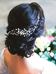 cheap -bridal hair accessories hand-woven pearl hair comb, wedding dress styling plate hair insert comb accessories