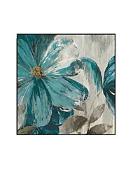 cheap -Oil Painting Handmade Hand Painted Wall Art Modern Blue Flowers Abstract Minimalist Home Decoration Decor Rolled Canvas No Frame Unstretched