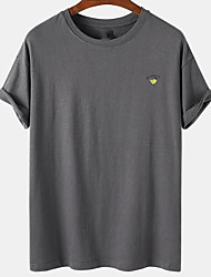 cheap -Men's Unisex Tee T shirt Hot Stamping Graphic Prints Avocado Plus Size Print Short Sleeve Casual Tops Cotton Basic Designer Big and Tall Dark Gray