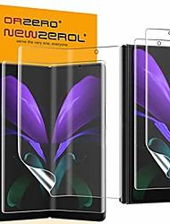 cheap -Phone Screen Protector For SAMSUNG Galaxy Z Fold 2 Hydrogel Film 4 pcs High Definition (HD) Scratch Proof Front Screen Protector Phone Accessory
