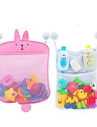 cheap -Baby Bath Toy Organizer -  (2 Bath Toy Storage Nets - Shark/Bunny and 1 random   4 Strong Hooks)  Great Bath Net for Kids  Cute Bathtub Toy Organizer and Bath/Shower Caddy Storage Solution