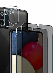 cheap -pulen for samsung galaxy a02s privacy screen protector (2 packs) with 2 packs camera lens protector,hd clear anti-spy self-adhesive scratch resistance tempered glass
