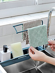 cheap -Sink Rack Drain Basket Sink Rag Rack Kitchen Organization Adjustable Retractable Pot Brush Rag Rack
