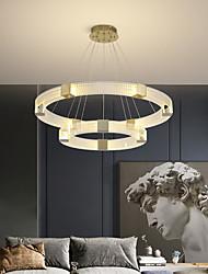 cheap -LED Pendant Light Circle Ring Design 1-Ring 2-Ring 80 cm Lantern Desgin Pendant Light Aluminum Electroplated Modern 220-240V 110-120V