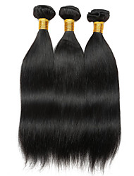 cheap -Ishow 3 Bundles Human Hair Weaves Peru Virgin Wig 3 Pieces Of Combination Outfit 100% Real 8A Smooth Straight Hair Curtain Hair Extensions 8-28 Inch