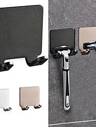 cheap -3 Pieces Nordic Style Men Shaver Shelf Multicolor Aluminum Punch Free Storage Hook Bathroom Accessories Multi Purpose Hook Organizer