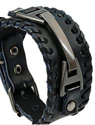 cheap -Men's Vintage Bracelet Vintage Style Love Vintage Hard Leather Bracelet Jewelry Brown+Silver / Black+Sliver For Wedding Daily